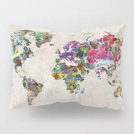 World Map 45 Pillow Sham