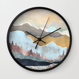 Winter Light Wall Clock