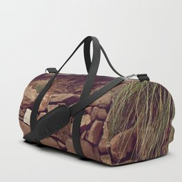 Red rocks in the forest II Duffle Bag