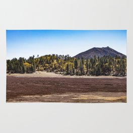 Meadow with Gold and Red Grasses Framed with Mountains by Lake Cuyamaca Rug