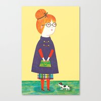 redhead Canvas Prints featuring Redhead by Ana Albero