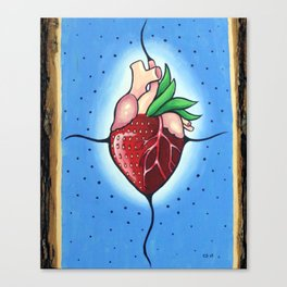 The Heart Berry Canvas Print