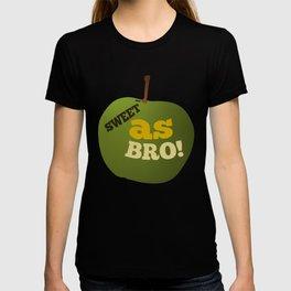 Green apple SWEET AS BRO T-shirt