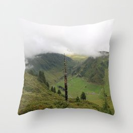 A cloudy day in the Alps Throw Pillow
