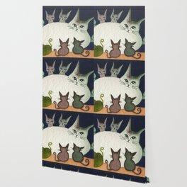 Nebraska Whimsical Cats Wallpaper