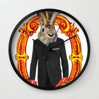 jackalope Wall Clocks featuring Jackalope Evolved by Silvio Ledbetter