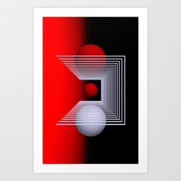 games with geometry -14- Art Print