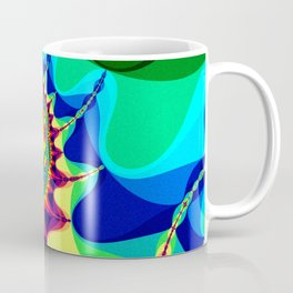 Abstract art print shaded effect multicolor psychedelic poster Coffee Mug