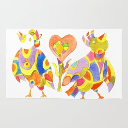 zwei singende Vogel Rug