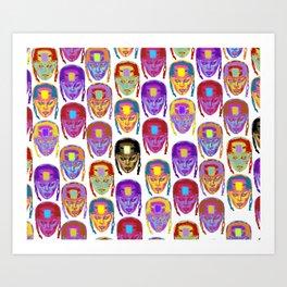 Roller Derby Girl Pattern Art Print
