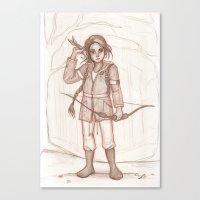 katniss Canvas Prints featuring Katniss by AndytheLemon
