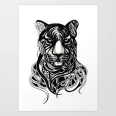 Tiger - Original Drawing  Art Print