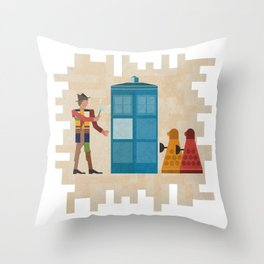 ancient doctors and daleks oh my! Throw Pillow