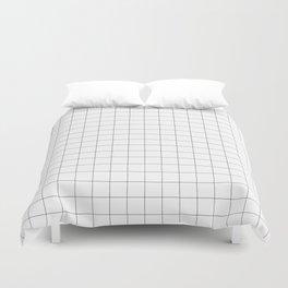The Minimalist: White Grid Duvet Cover