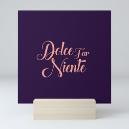 happy lettering motivation Mini Art Print
