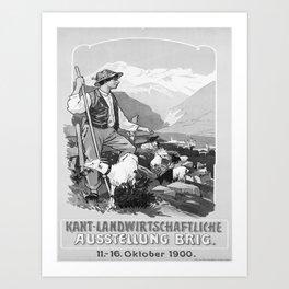 retro 1900 Brig Art Print