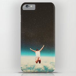 Falling with a hidden smile iPhone Case