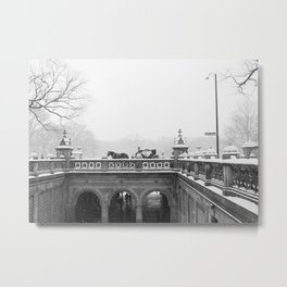 Carriage Ride in Central Park Metal Print