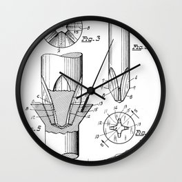 Phillips Screwdriver: Henry F. Phillips Screwdriver Patent Wall Clock