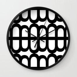 B Pattern Wall Clock