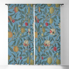 William Morris Fruit and Pomegranate Vintage Print Blackout Curtain
