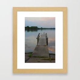 Seneca Lake Pier at Dusk Framed Art Print