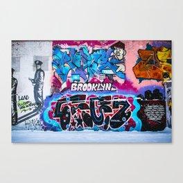 Brooklyn Grafitti Canvas Print