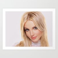 britney Art Prints featuring britney  by Just Be Love
