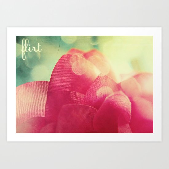Flirt Art Print