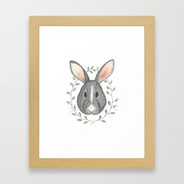 Buns the Grumpy Bunny Framed Art Print