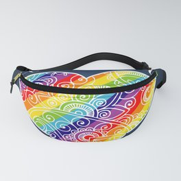 Love is Love Rainbow Heart Fanny Pack