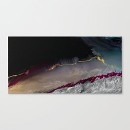 The Extasy Of Gold - Abstract landscape resin art Canvas Print