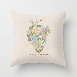 A Traveller's Heart (UK) Throw Pillow