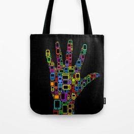 Mobile Phones Hand Tote Bag