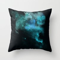 psychology Throw Pillows featuring a cold nebula by Gabrielle Agius