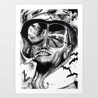 fear and loathing Art Prints featuring Fear and Loathing by Tufty Cookie