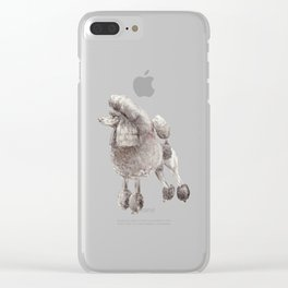 Pretty Poodle Clear iPhone Case