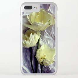 Paper Whites...Tulips, That Is Clear iPhone Case