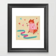 The Cat's Pyjamas Framed Art Print
