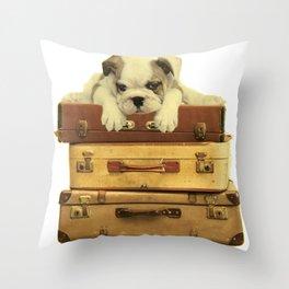 Vintage Bulldog  Throw Pillow