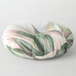 Landscape plant paint Floor Pillow