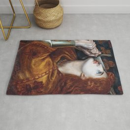 Joan of Arc 1882 by Gabriel Rossetti Artwork for Wall Art, Prints, Posters, Tshirts, Men, Women, Kids Rug