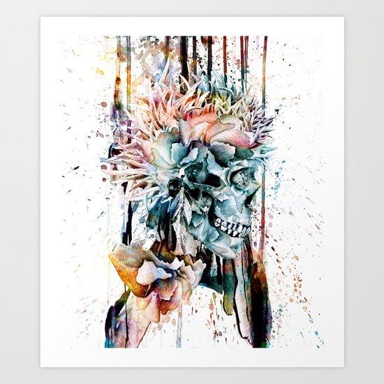 SKULL N-II Art Print