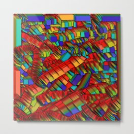 Rainbow strips Metal Print