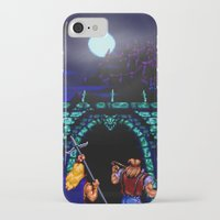 castlevania iPhone & iPod Cases featuring Dark Castle by VGPrints
