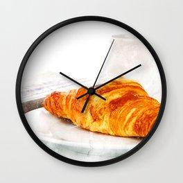 Croissant Breakfast Wall Clock