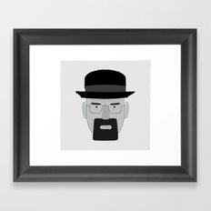 Heisenberg, he is the one who knocks. Framed Art Print