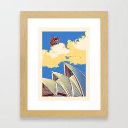 Sydney, Australia Travel Poster 2 Framed Art Print