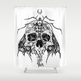 Moth Skull Shower Curtain