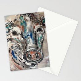 Rainbow Cow Stationery Cards